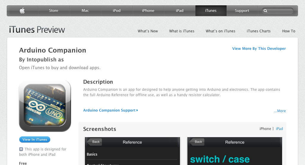 Arduino Companion - now out on Apple App store