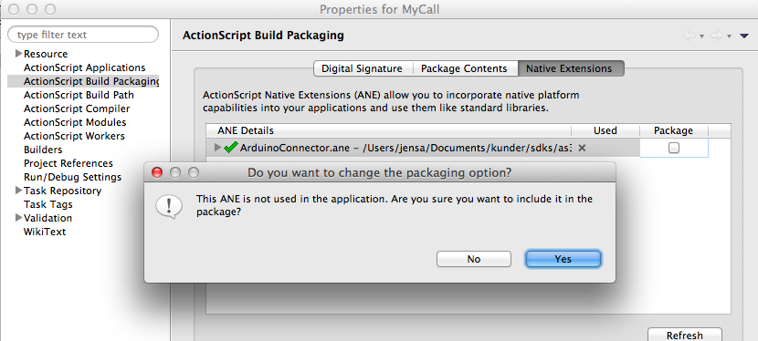 Article image for Including Native extensions on OSX