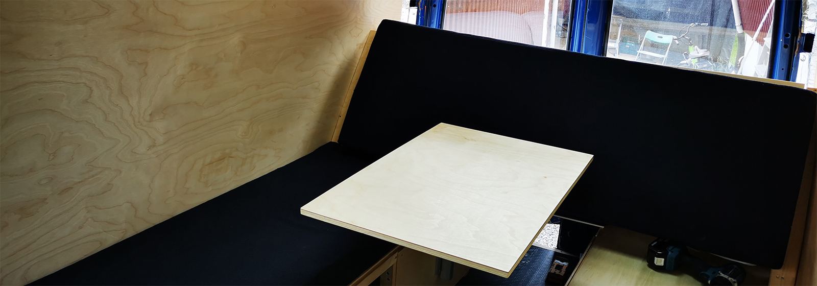 Article image for Matress covers, table and starting on the kitchen