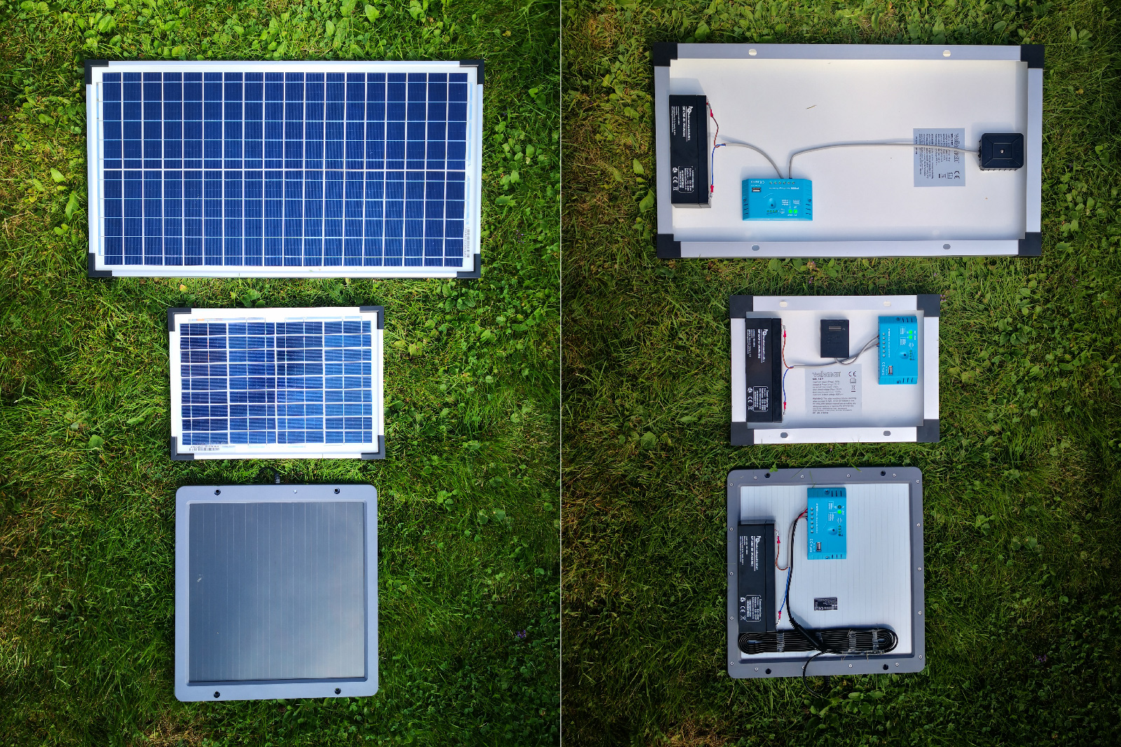 Solar panel setups